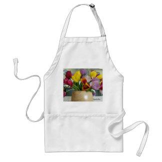 """""""Dutch Tulips Bouquet"""" Aproon Adult Apron"""