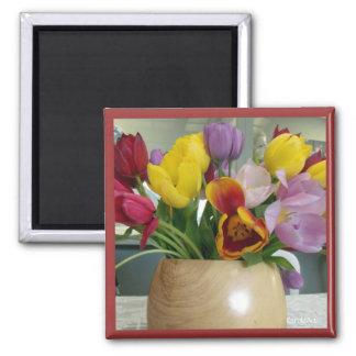 """""""Dutch Tulips Bouquet"""" Magnet"""