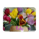 Dutch Tulips Bouquet Rectangle Magnets