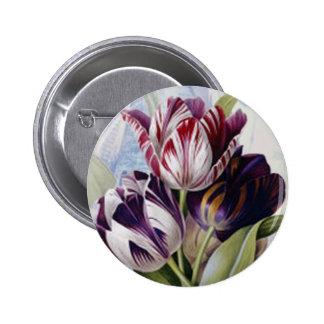 Dutch Tulips Button
