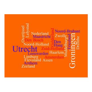 Dutch Typography Card Postcard