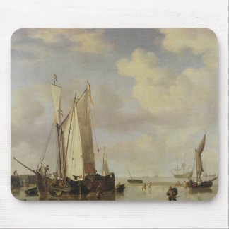 Dutch Vessels Inshore and Men Bathing, 1661 Mouse Pad