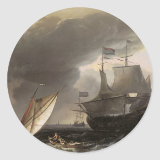 Dutch Vessels on a Stormy Sea c. 1690 Stickers