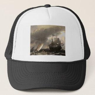 Dutch Vessels on a Stormy Sea c. 1690 Trucker Hat