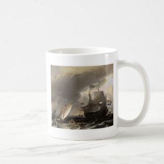 Dutch Vessels on a Story Sea 1690 Coffee Mug