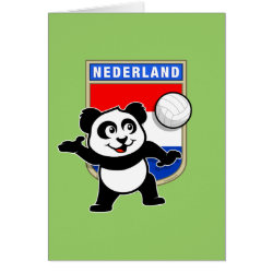 Note Card with Dutch Volleyball Panda design