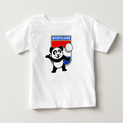 Dutch Volleyball Panda Baby Fine Jersey T-Shirt
