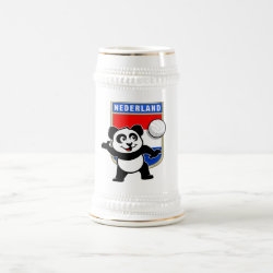 Stein with Dutch Volleyball Panda design