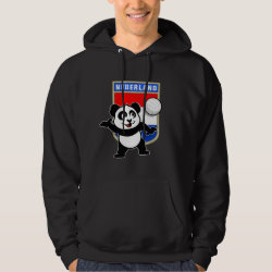 Men's Basic Hooded Sweatshirt with Dutch Volleyball Panda design