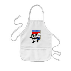 Kid's Apron with Dutch Volleyball Panda design