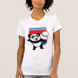Women's American Apparel Fine Jersey Short Sleeve T-Shirt with Dutch Volleyball Panda design