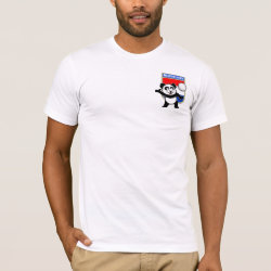 Men's Basic American Apparel T-Shirt with Dutch Volleyball Panda design