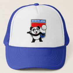 Trucker Hat with Dutch Volleyball Panda design