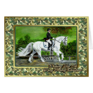 Dutch Warmblood Dressage Horse Christmas Card