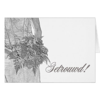 Dutch wedding congratulations card