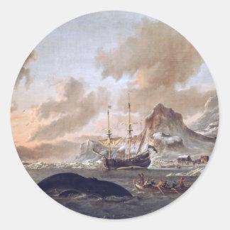 Dutch Whalers Near Spitsbergen Classic Round Sticker