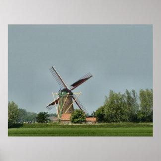 Dutch Windmill #1 Poster