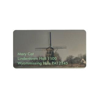 Dutch Windmill #2 Label