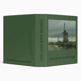 Dutch Windmill #3 3 Ring Binder