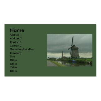 Dutch Windmill #3 Business Card