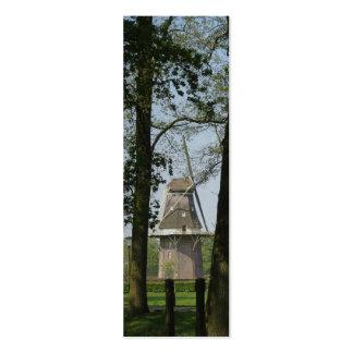 Dutch Windmill and Trees Photo Bookmark Mini Business Card