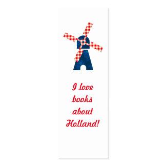 Dutch windmill bookmark mini business card