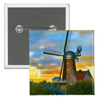 Dutch Windmill Pinback Button