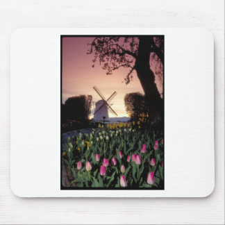 Dutch windmill & flowerbeds mouse pad