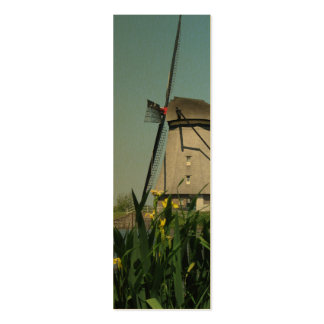 Dutch Windmill & Flowers Photo Bookmarks Cards Mini Business Card
