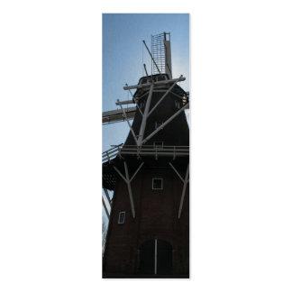 Dutch Windmill Holland Bookmark Mini Business Card