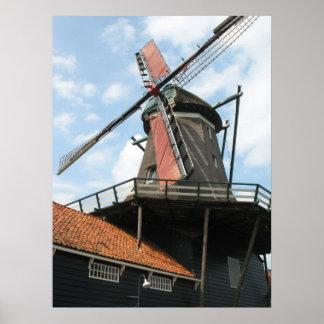 Dutch Windmill IJlst Frisia Holland Photo Poster
