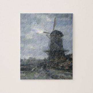 Dutch windmill in moonlight Maris Jigsaw Puzzles