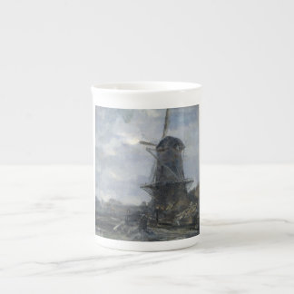 Dutch windmill in moonlight Maris Tea Cup