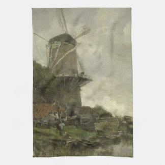 Dutch windmill, Jacob Maris Towel