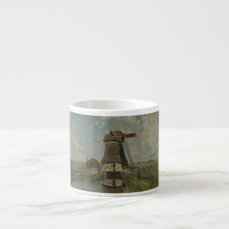Dutch windmill on polder waterway Paul Gabriël Espresso Cup