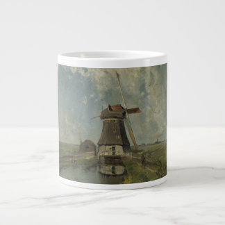 Dutch windmill on polder waterway Paul Gabriël Giant Coffee Mug