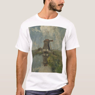 Dutch windmill on polder waterway Paul Gabriël T-Shirt