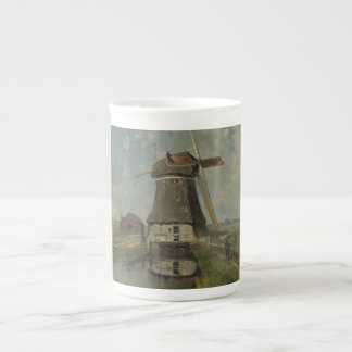 Dutch windmill on polder waterway Paul Gabriël Tea Cup