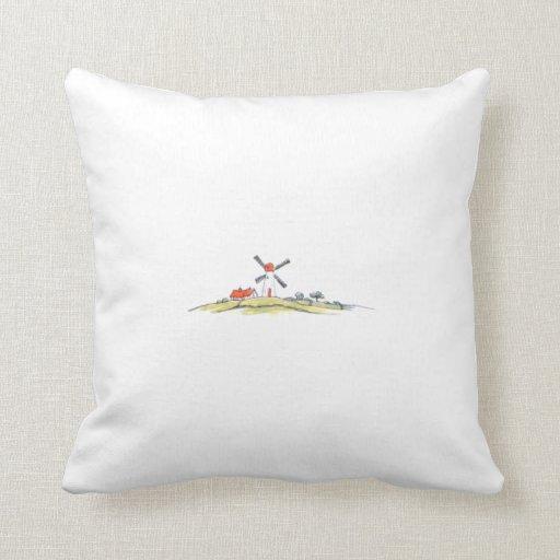 Dutch Windmill Pillow