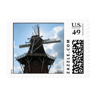 Dutch Windmill Silhouette Holland Postage Stamp