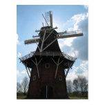 Dutch Windmill Silhouette Postcard