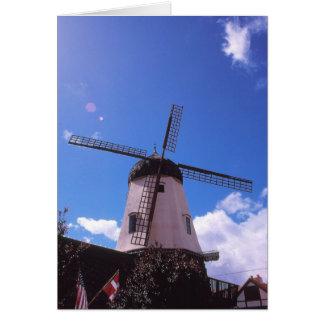 Dutch Windmill, Solvang CA Card