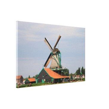 Beach Themed Dutch windmill village, Holland 3 Canvas Print
