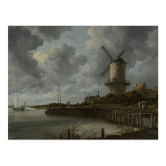 Dutch windmill Wijk bij Duustede, Ruisdael Postcard