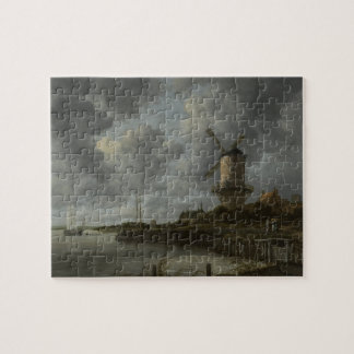 Dutch windmill Wijk bij Duustede, Ruisdael Jigsaw Puzzles