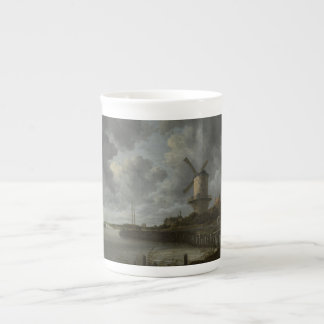Dutch windmill Wijk bij Duustede, Ruisdael Tea Cup