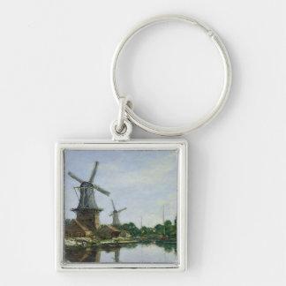 Dutch Windmills, 1884 Key Chain
