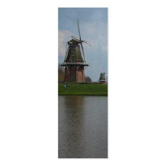 Dutch Windmills Holland Bookmark Gift Mini Business Card