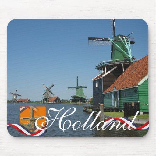 Dutch Windmills Holland Zaanse Schans Souvenir Mouse Pad