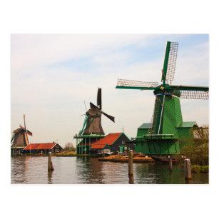 Dutch Windmills, Zaanse Schans. Postcard